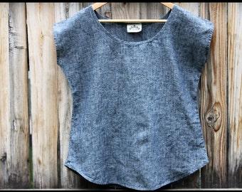 Hemp linen Indigo Shirt