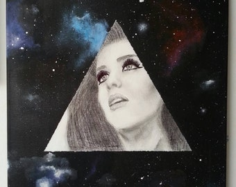 Katy perry galaxy print, A4, limited edition