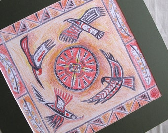 Eagle print,native american art,eagle picture,eagle art print,native american eagle,Canadian Indian inspired art,eagles,spiritual art,indian