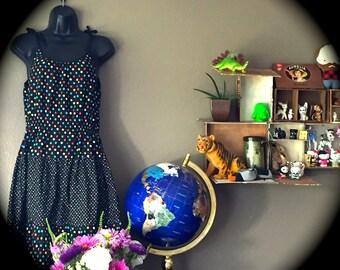 Polka dot vintage dress size L