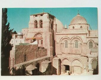 Vintage Postcard Jerusalem Church of the Holy Sepulchre Old City - Israel / Holy Land / Jewish