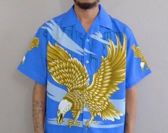 Oversized Eagle Shirt Blue