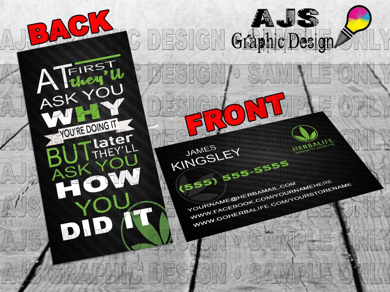 Herbalife Custom Business Cards 24 • Herbalife Graphics