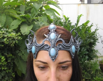 Example Muster Tamaril crown headpiece fantasy gothic wgt headress larp