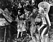 WIZARD OF OZ - Dorothy - Scarecrow - Tin Man - Lion - Reprint Photograph in sizes - 8x10 - 11x14 - Cast Picture Photo Print