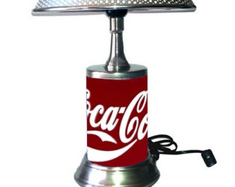 Coca-Cola Lamp with chrome shade