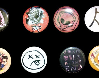 John Dies at the End Set of Pinback Buttons