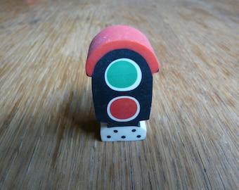 SALE! Very Cute Vintage Traffic Light Rubber Eraser - 80's Japan - Carinissima Gommina da Collezione Semaforo