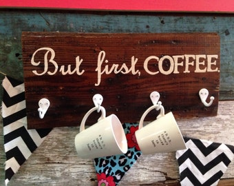 But first, coffee sign and holder