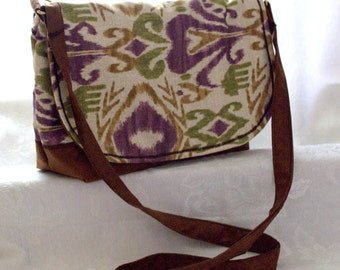 INCA BROWN/cross body/messenger bag/purse with brown leather