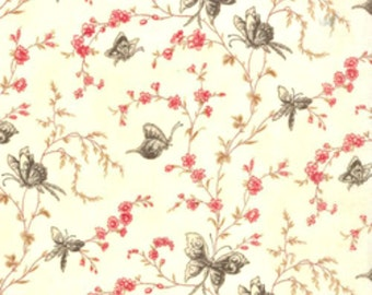 Ivory (1867.7460)- Papillon By 3 Sisters- Moda Fabric- Half Yard