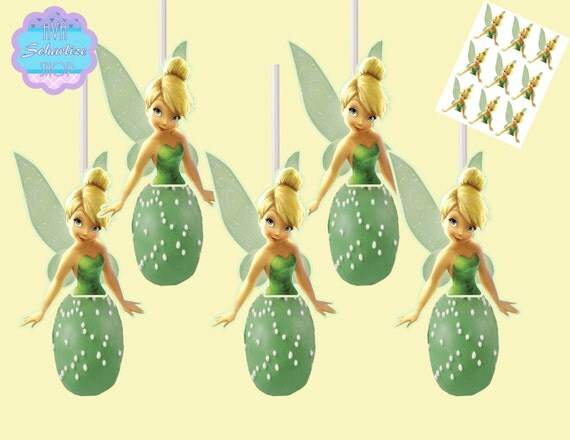 Tinkerbell Cake Pop Toppers