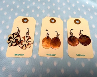 Flattened Penny Earrings with Charms
