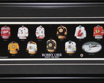 Bobby Orr Oshawa Genrals Boston Bruins Jersey Evolution Frame