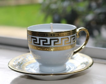 Gold 'Greek-Style' Teacup Candle
