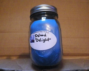 homemade Island Delight 14 oz soy wax candle