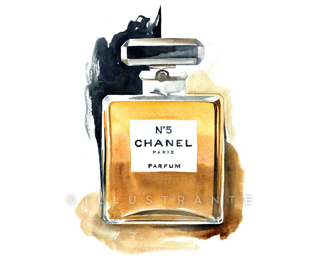 Chanel Perfume Print Chanel Illustration Chanel Watercolor