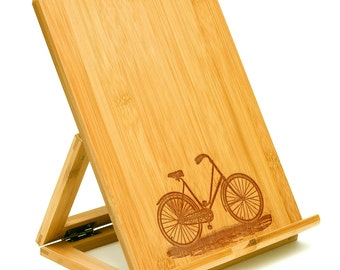 Kindle or iPad Stand for the Bicycle Lover