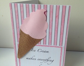 Handmade Ice Cream cards