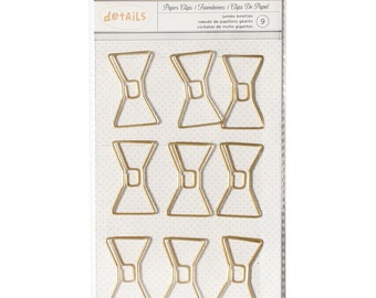 American Crafts~Designer Desktop Essentials Jumbo Paper Clips 9/Pkg