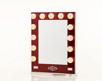 Broadway Lighted Vanity Mirror Silver by HollywoodVanityGirl