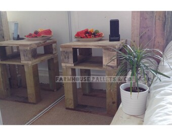 """Reclaimed Wood Bedside Table/ End Table/  Nightstand """"LEMMIK"""" in various finishes"""