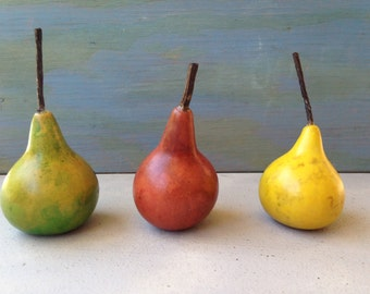 Small Pear Gourds -- Set of 3