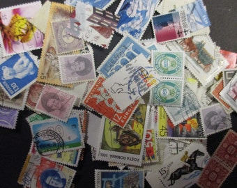 100 used stamps