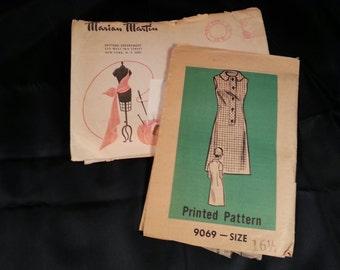 Vintage Mariam Martin Dress Pattern 9069 Size 16 1/2