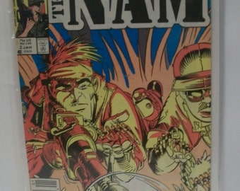 1987  The Nam #2  Vietnam War comic Fair-Good Condition Bad Tears on Cover  Vintage Marvel Comic Book