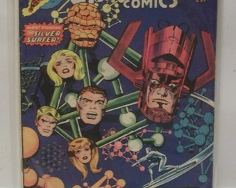 1975 Marvel's Greatest Comics Starring The Fantastic Four #57 July  Galactus And The Silver Surfer Good Condition Vintage Marvel Comic Book