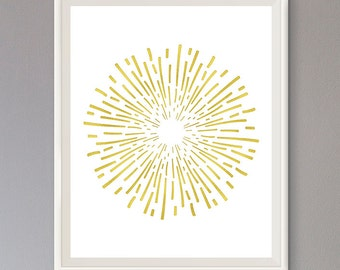 EXTRA 50% OFF Multiple Purchases Downloadable Print Starburst Sunburst Pattern Gold Effect