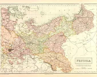 Map of Prussia - 1867
