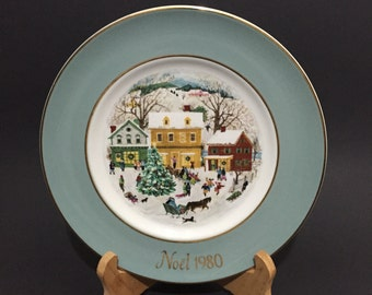 1980 Avon Noel Christmas Plate Series Eighth Edition Country Christmas Limited Edition