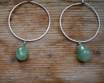 Aquamarine and silver earrings / Natural aquamarine / Aquamarine jewelry / Aquamarine