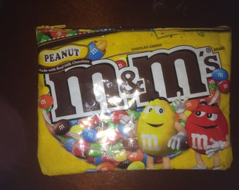 UPCYCLE oversized pencil case/pouch-M&M brand/ ready to ship