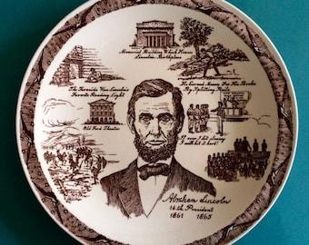 Abraham Lincoln: Vernon Kilns Historical President Plate