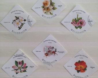 Large Nicaragua Rosas Silvestres Stamp Set
