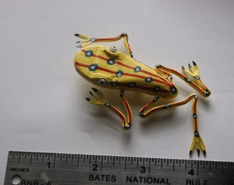 LUCKY Hand Made Money Frog Brooch Very BIG