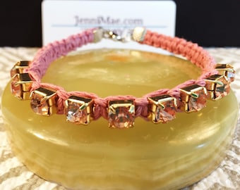 Pink Starlett Hemp Bangle