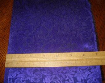100% Silk Jacquard - Purple