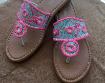 Lilly Pulitzer Inspired Sandals