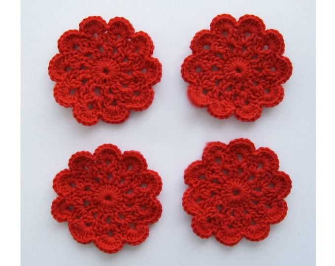 PATTERN Crochet Coasters Round Coasters, Flower Coasters - crochet pattern, pdf