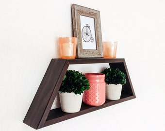 Geometric Shelf - Custom Made in Your Choice of Stain Color - Nursery Decor - Display Shelves - Home Decor