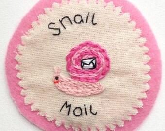 Snail Mail Handmade Patch