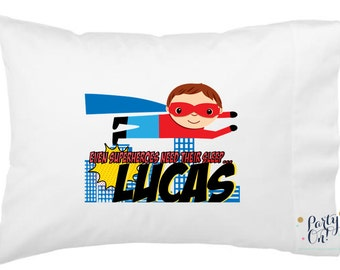 Superhero Pillow Cases - Personalized