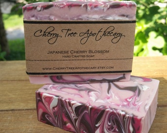 Japanese Cherry Blossom Handcrafted Soap - Vegan Soap - Cold Process Soap - Bar Soap - Floral Soap - Women's Soap - Handmade Soap
