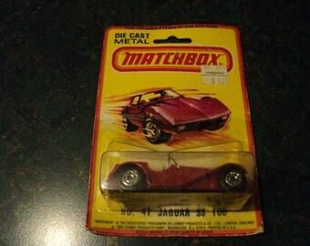 Matchbox No 47 Jaguar SS 100 New on Card