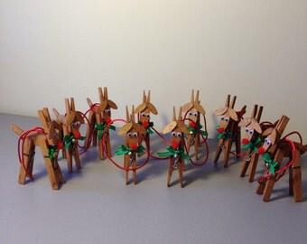 Christmas Reindeer Decoration (10), Christmas Ornament, Christmas Decoration, Holiday Decoration, Christmas Tree Ornaments,