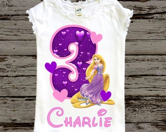 Rapunzel Birthday Shirt - Tangled Birthday Shirt